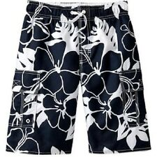 Old Navy Boys Hibiscus Print Cargo Swim Trunks - Ink blue NWT