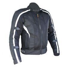 Bikers Gear UK Black White Motorcycle Summer Mesh Air Flow Jacket Armoured