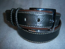 Italy Style Brand Men's Genuine Leather Black/Brown Belt Size  M or L  NEW