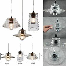 Clear Pressed Glass Pendant Lamp Series Tom Dixon Style Ceiling Light Chandelier