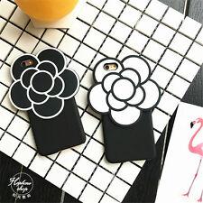 For apple iphone 6 6S 6Splus Luxury Hot Cute Camellia 3D Flowers back case cover