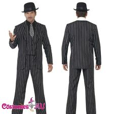 Mens 20s Vintage Gangster Boss Costume Fancy Suit 1920s Gangsta Zoot Razzle Male