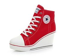 HIGH TOP STAR BOOTS Casual Sneakers Canvas Shoes High Lacing for Women Gifts