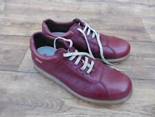 SIZE UK 7 CAMPER PELOTAS ARIEL WOMEN'S LEATHER LACE-UP SHOES DARK RED OXBLOOD