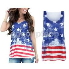 Fashion Women Summer Stars Vest Top Sleeveless Casual Tank Blouse Tops T-Shirt