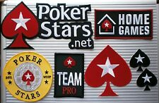 POKER IRON ON PATCH POKERSTARS.NET WSOP HOME GAMES TEAM PRO SMALL BLACK SPADE