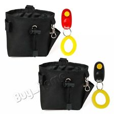 Dog Training Treat Bag, Pet Dog Treat Pouch Carrier Bag with Training Clicker