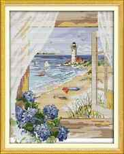 Kit broderie point de croix imprimé/compté,11CT/14CT,Cross Stitch Seascape