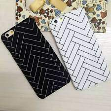 Slim Simple Geometric Weave Hard Back Case Cover Skin For Apple iPhone 6 6s Plus