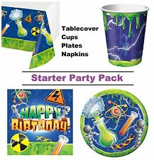 Mad Scientist 8-48 Guest Starter Party Pack - Tablecover,Cups, Plates, Napkins