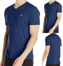 Lacoste Mens Short Sleeve Pima Cotton Jersey V-neck T-shirt Tee Philippines Blue