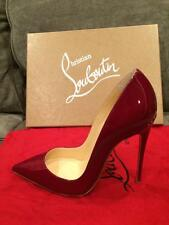 Christian Louboutin SO KATE 120 Patent Heels Pumps Shoes Rouge Imperial Red