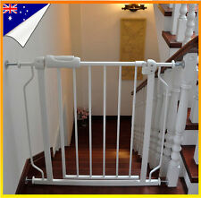 75-89cm Adjustable Baby Pet Child Safety Gate Extra Wide Extension Barrier