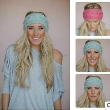 Fashion Women Crochet Headband Knit Hairband Flower Winter Ear Warmer Head wrap