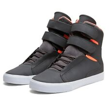 Shoes SUPRA SOCIETY CHARCOAL / NEON ORANGE - WHITE