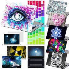 Colorful Design Rubberized Hard Case+KB SP Cover For Macbook Pro Air 11/12/13/15