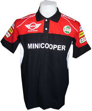 NEW MINI COOPER RAC MOTORCYCLE SPORT RACING TEAM BLACK MENS POLO T-Shirt M,L,XL