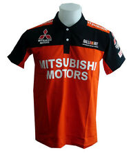 NEW MITSUBISHI RAC MOTORCYCLE SPORT RACING TEAM ORANGE MENS POLO T-Shirt M,L,XL