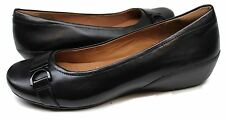 Women's Clarks® Artisan Concert Band Black Leather Slip-On Shoes Size
