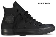 Converse Chuck Taylor Hi All Star-All Sizes Unisex Black Mono