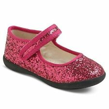 NWT Girls Mary Jane Shoes Cherokee Kara Dark Pink Glitter 6 7 8 9 10 11 12