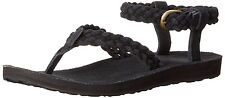 TEVA women's SANDALS Original Suede BRAIDED Ankle Strap Sandal BLACK size 7 , 9