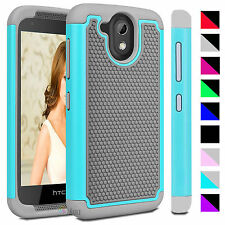Hybrid Rugged Rubber Case for HTC Desire 526G Armor Impact Protective Hard Cover