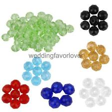 50pcs Rondelle Crystal Glass Loose Beads 4mm Spacer Jewelry Necklace Making