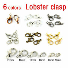 50/100Pcs New Silver/Gold/Bronze Lobster Claw Clasps Hooks Finding 10/12/14/16mm
