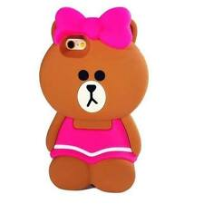 For iPhone 5S 6 6S 6 Plus Bow Bowknot Skirt Bear Silicone Rubber Soft Case Cover