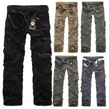 Mens Cargo Military Army Pants Slim Camouflage Trousers Camo Trousers Work S3L4