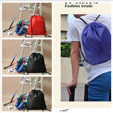 Drawstring Cinch Sack Backpack School Tote Gym Beach Travel Bag 5 Colors CA