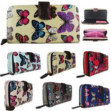 Ladies Designer Oilcloth Butterfly Folded Zip Wallet Purse HandBag Clutch Gift