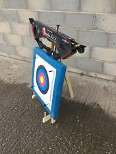 25LB ARCHERY BOW  KIT TARGET STAND  STRAW TARGET 20 PAPER FACES 4 PINS