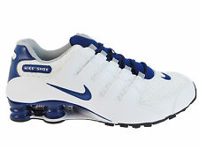 CLASSIC MENS NIKE SHOX NZ RUNNING SHOES TRAINERS WHITE / COASTAL BLUE / WOLF GRE