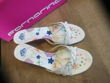 Fornarina mule white leather NEW Heel 4cm Val E Sizes 35,36