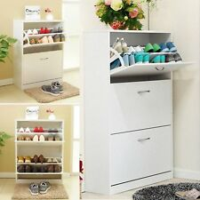 Shoe Storage Cabinet Cupboard Wooden Furniture Footwear Stand Rack Unit Drawer