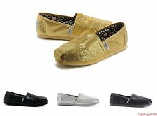 New Authentic Toms Women's Glitter Shoes with Original Box