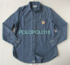 New Ralph Lauren Denim & Supply Denim Chambray Western Shirt Blue L