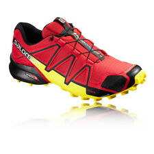 Salomon Speedcross 4 Mens Red Waterproof Running Sports Shoes Trainers