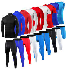 Mens Under Compression Shirt Pants Shorts Fitness Exercise Base Layers Tights