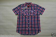 Superdry Men's Washbasket Plaid Short Sleeve Slim Fit Shirt Sz S, M, L, XL, 2XL