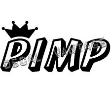 Pimp Crown Vinyl Sticker Decal Race Drift Race JDM - Choose Size & Color