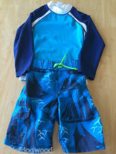 NWT Gymboree Boys Pirates Rash Guard Swim trunk Set SZ 5 Swim Shop