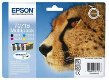 Brand New Epson T0715 Multipack Ink Cartridges Cyan Magenta Yellow and Black