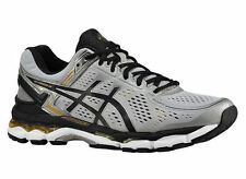 NEW MENS ASICS GEL-KAYANO 22 RUNNING SHOES TRAINERS SILVER / BLACK / GOLD