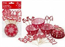 Contemporary Christmas Cupcake Decorations Kit - Pack Of 24
