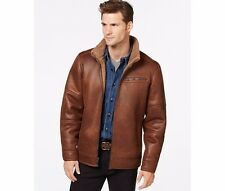 BUFFALO By DAVID BITTON Men's Rust Brown Faux Fur Shearling Basic Jacket Coat