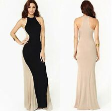 Sexy Womes Sleeveless Slim  FishTail  Summer Evening Party Cocktail Long Dress