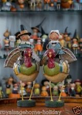 92295 Tom Goodie on Gobblers Pilgrim Lori Mitchell Figurine Thanksgiving Turkey